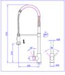Imagen de Griferia Monocomando Cocina Duchador Acero Inoxidable - L80110