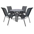 Imagen de Juego de jardín 4 sillones y mesa redonda - Gris