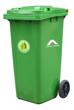 Imagen de Contenedor residuos 120lts c/ruedas  - Tacho basura c/tapa