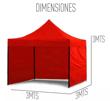 Imagen de Carpa Gazebo Plegable Reforzado 3x3m Con Laterales + Bolso